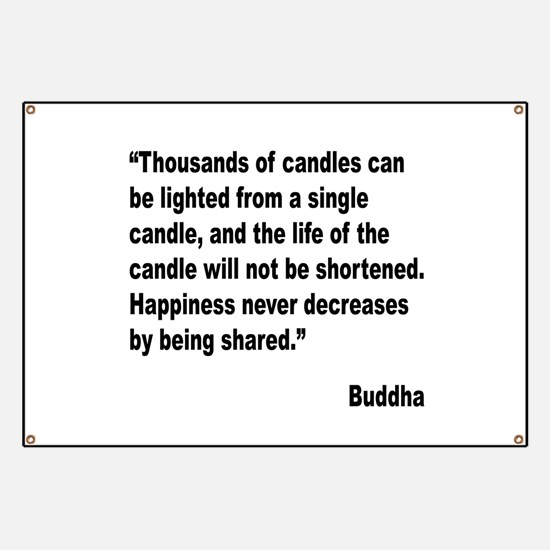 Buddha Shared Happiness Quote Banner