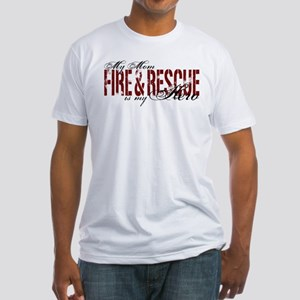 Mom My Hero - Fire & Resue Fitted T-Shirt