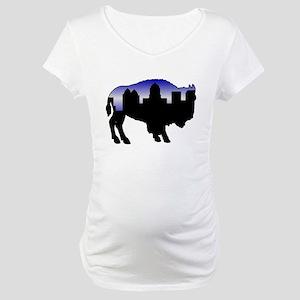 Snowy Day Skyline Maternity T-Shirt