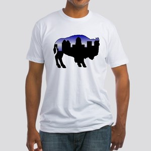 Snowy Day Skyline Fitted T-Shirt