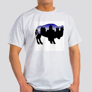 Snowy Day Skyline Light T-Shirt