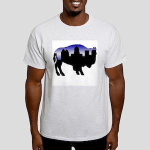 Snowy Day Skyline Light T-Shirt