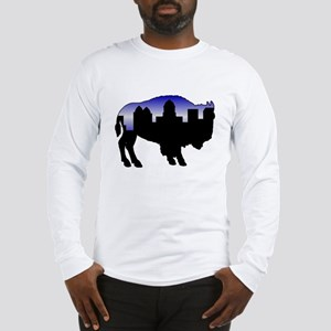 Snowy Day Skyline Long Sleeve T-Shirt
