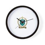 MENARD Family Crest Wall Clock