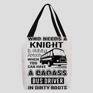 Bus Driver Polyester Tote Bag