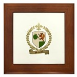 MELLANSON Family Crest Framed Tile