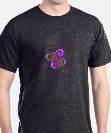 Hope Courage 1 Butterfly 2 PURPLE T-Shirt