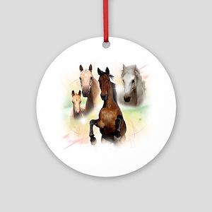 Celestial Horses Ornament (Round)