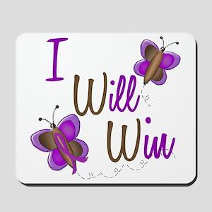 I Will Win 1 Butterfly 2 PURPLE Mousepad