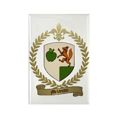 MELANCON Family Crest Rectangle Magnet