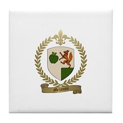 MELANCON Family Crest Tile Coaster
