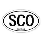Scotland International Oval Sticker