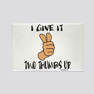 TWO THUMBS UP Rectangle Magnet