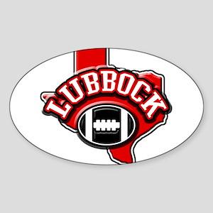 Lubbock Football Oval Sticker