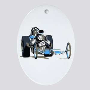 Vintage Top Fuel 1 Oval Ornament