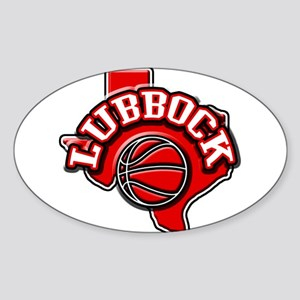 Lubbock Basketball Oval Sticker