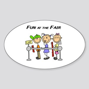 Fun at the Fair Oval Sticker