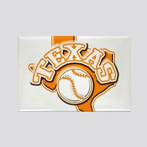 Texas Baseball Rectangle Magnet
