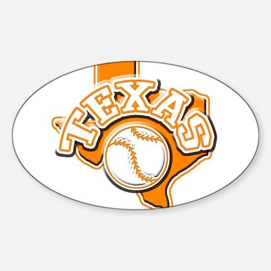 Texas Baseball Oval Decal