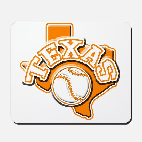 Texas Baseball Mousepad