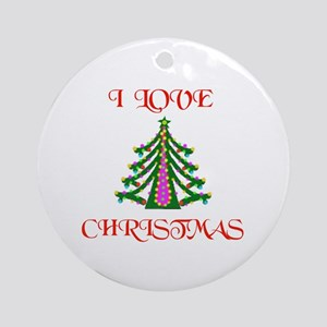 YEA CHRISTMAS ! Ornament (Round)
