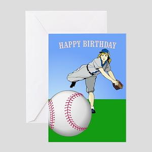 Baseball, Gal's 'Perfect' -Birthday Card