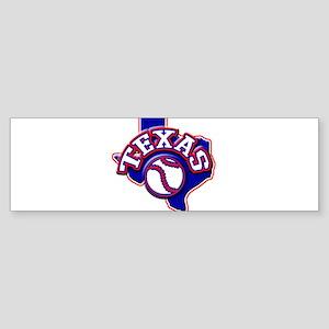 Texas Baseball Bumper Sticker