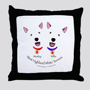 Custom - Wesley & Willis Throw Pillow
