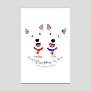 Custom - Wesley & Willis Mini Poster Print