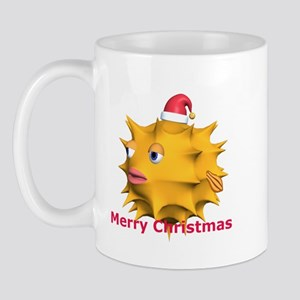 Christmas Puffer Fish Mug