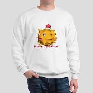 Christmas Puffer Fish Sweatshirt
