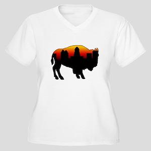 Sunset Skyline Women's Plus Size V-Neck T-Shirt