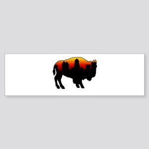 Sunset Skyline Bumper Sticker