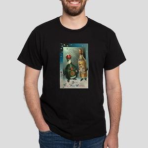 New Year Wishes Dark T-Shirt