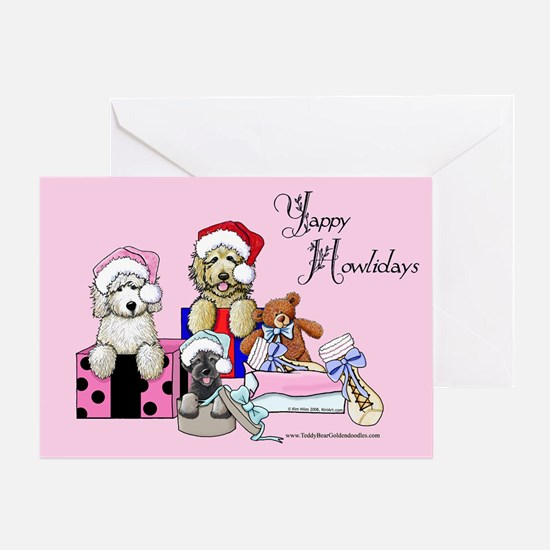 TBG & TBS Pink Christmas Greeting Card