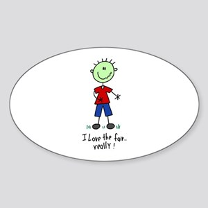 Too Much Fair Oval Sticker
