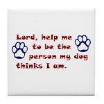 Dog Prayer Tile Coaster