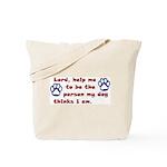 Dog Prayer Tote Bag