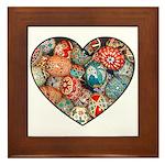 Pysanky Heart Framed Tile