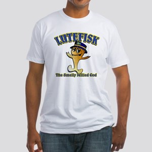 Lutefisk the dried codfish Fitted T-Shirt