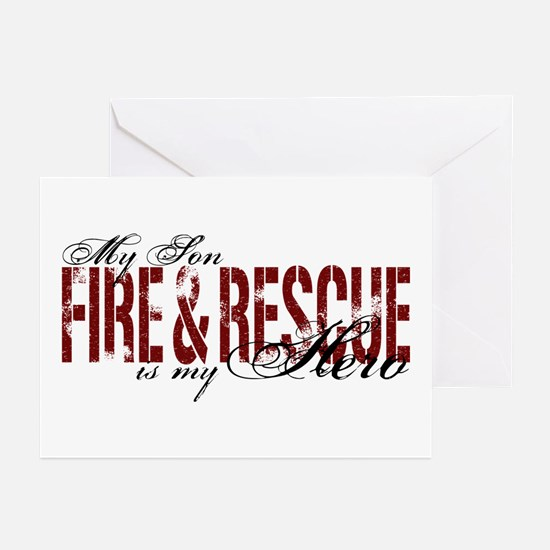 Son My Hero - Fire & Rescue Greeting Cards (Pk of