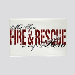Son My Hero - Fire & Rescue Rectangle Magnet