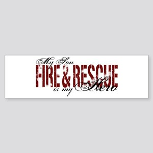 Son My Hero - Fire & Rescue Bumper Sticker