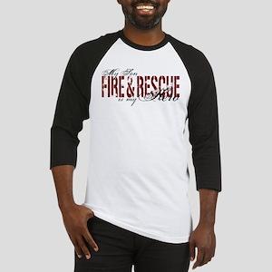 Son My Hero - Fire & Rescue Baseball Jersey