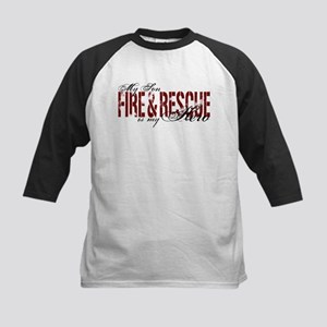 Son My Hero - Fire & Rescue Kids Baseball Jersey