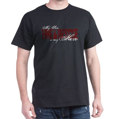Son My Hero - Fire & Rescue Dark T-Shirt