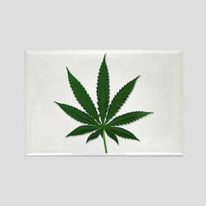 Marijuana Pot Leaf Rectangle Magnet