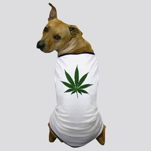 Marijuana Pot Leaf Dog T-Shirt