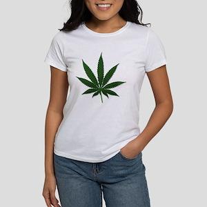 Marijuana Pot Leaf (Front) Women's T-Shirt