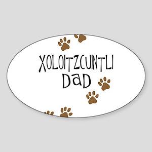 Xoloitzcuintli Dad Oval Sticker